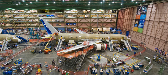 Linia montażowa Boeinga 787 w fabryce w Everett
