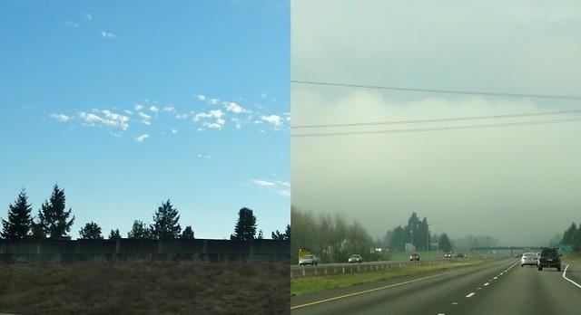Pogoda - porównanie Portland i Hillsboro