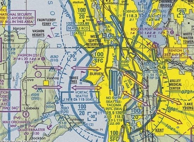 Mapa przestrzeni klasy B w Seattle